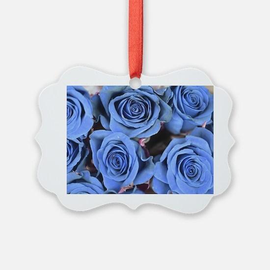 Blue Roses Ornament