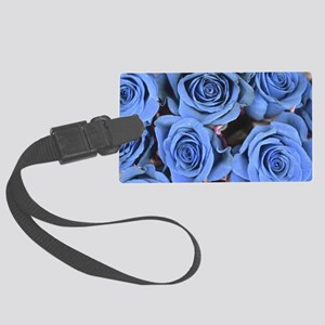 Blue Roses Large Luggage Tag