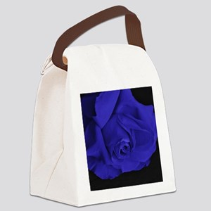 Blue Roses Canvas Lunch Bag