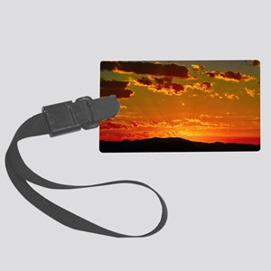 Arizona sunset Large Luggage Tag
