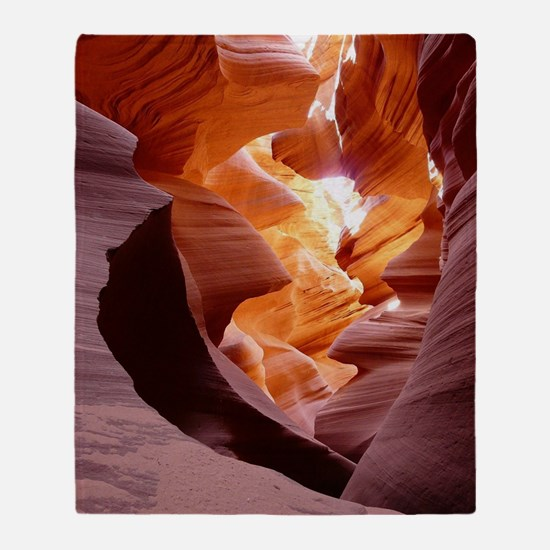 Antelope Canyon Throw Blanket