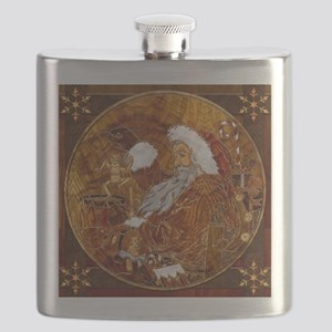 Harvest Moons Marquetry Flask