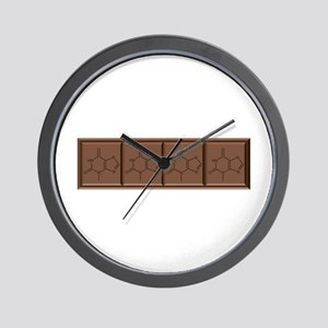 Chocolate Molecule Wall Clock
