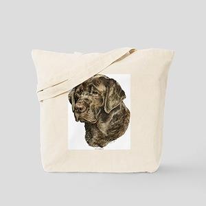 Chocolate Labrador Head Tote Bag