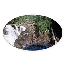Fort Coulonge Waterfalls Oval Sticker