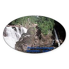 Fort Coulonge Waterfalls Oval Sticker