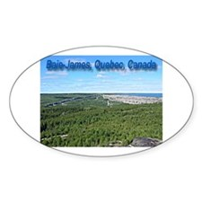 Baie James Oval Sticker