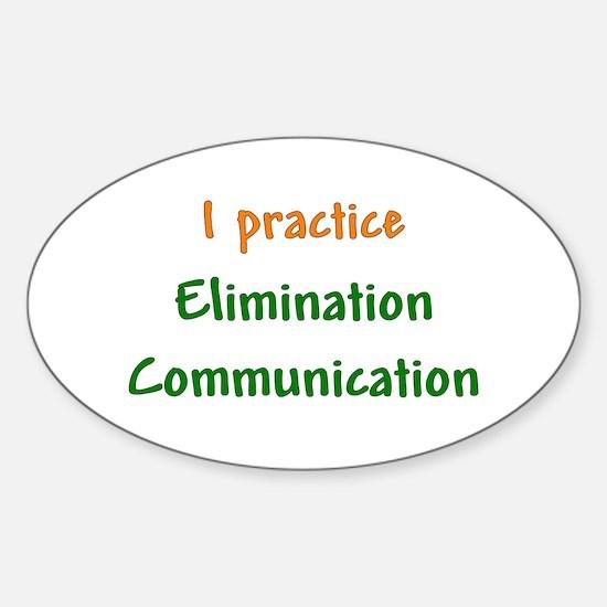 I Practice Elimination Communication Decal