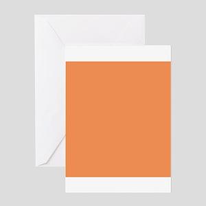 Tangerine Orange Greeting Cards