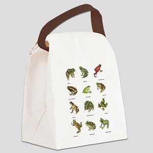 Frog and Toad Canvas Lunch Bag