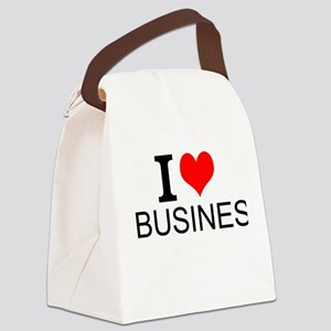 I Love Business Canvas Lunch Bag