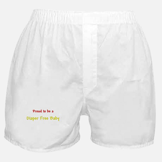 Proud To Be A Diaper Free Baby Boxer Shorts