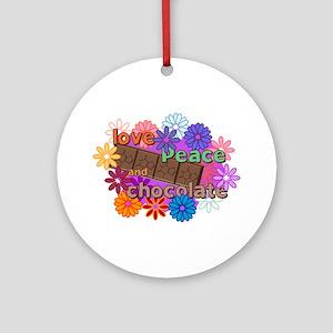 Chocolate Love Ornament (Round)