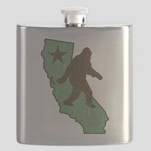 California Bigfoot (vintage distressed look) Flask