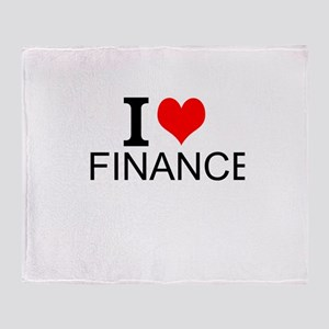 I Love Finance Throw Blanket