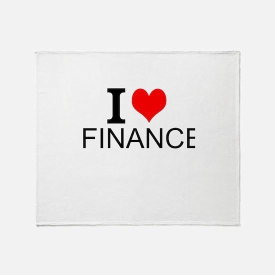 I Love Finance Throw Blanket
