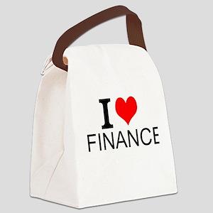 I Love Finance Canvas Lunch Bag