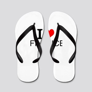 I Love Finance Flip Flops