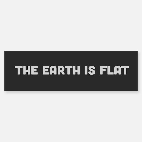 Flat Earth Bumper Bumper Bumper Sticker