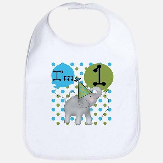 Elephant 1st Birthday Bib