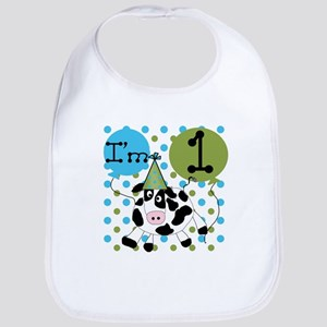 Cow 1st Birthday Bib