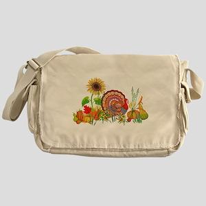 Autumn Thanksgiving Art Messenger Bag
