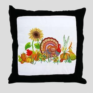 Autumn Thanksgiving Art Throw Pillow