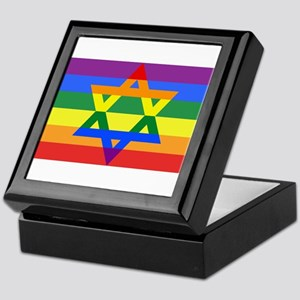 Rainbow Star of David Keepsake Box