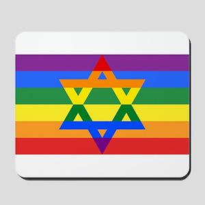 Rainbow Star of David Mousepad
