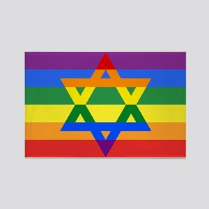 Rainbow Star of David Magnets
