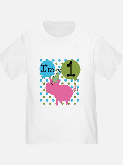Pig 1st Birthday T
