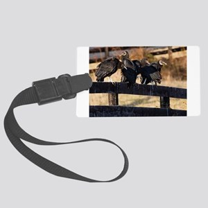 Black Vultures Luggage Tag