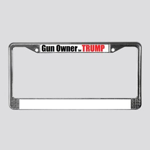 Gun Owner for TRUMP License Plate Frame