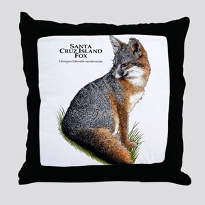 Santa Cruz Island Fox Throw Pillow