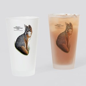 Santa Cruz Island Fox Drinking Glass
