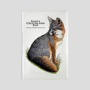 Santa Cruz Island Fox Rectangle Magnet