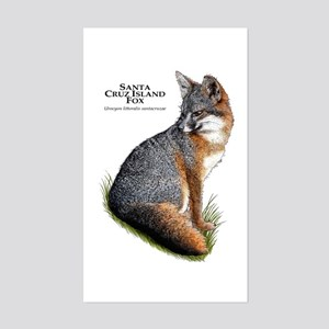 Santa Cruz Island Fox Sticker (Rectangle)