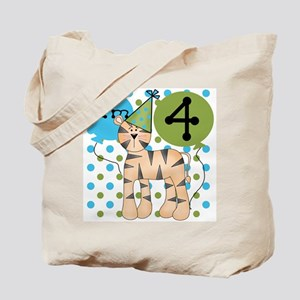 Tiger 4th Birthday Tote Bag