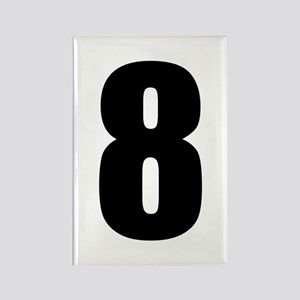 Number Eight - No. 8 Rectangle Magnet