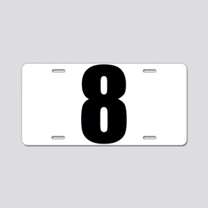 Number Eight - No. 8 Aluminum License Plate