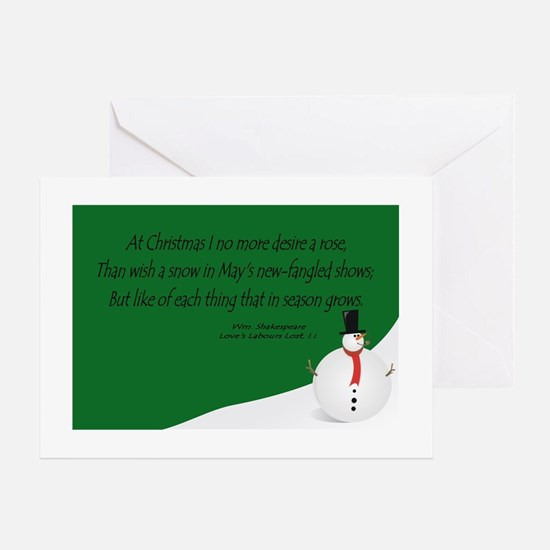 Shakespeare's Christmas Greeting Card