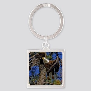 Bald Eagle takes flight Keychains