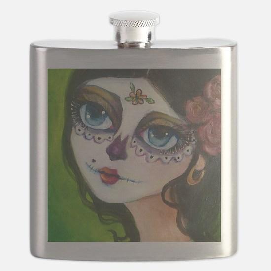 Unique Dia de los muertos Flask