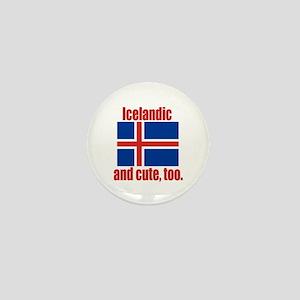 Cute Icelandic Mini Button