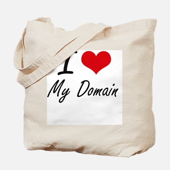 I Love My Domain Tote Bag