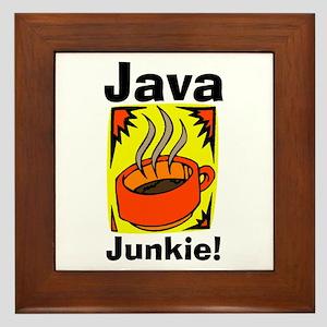 Java Junkie Framed Tile