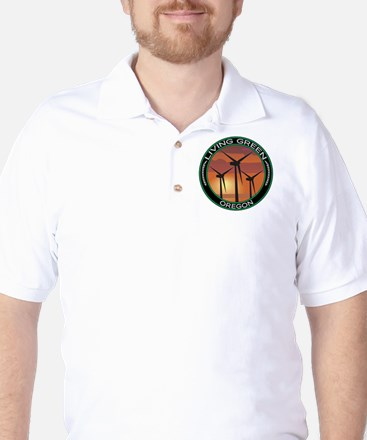 Living Green Oregon Wind Power Golf Shirt