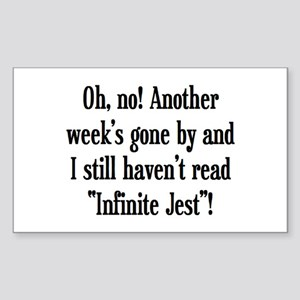 read infinite jest Sticker (Rectangle)