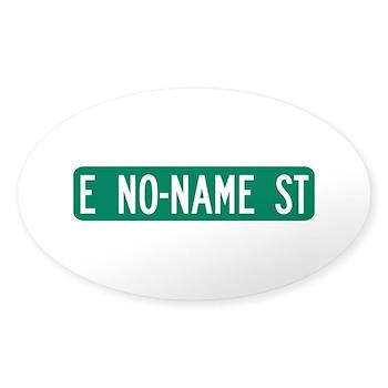 No-Name Street, Quartzsite (AZ) Oval Sticker