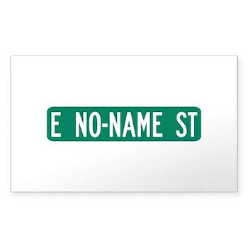 No-Name Street, Quartzsite (AZ) Sticker (Rectangul
